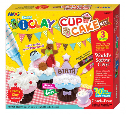 Cake Art Kit : IClay 3 Colour Modelling Clay - Cup Cake Kit ToyShop.com.au
