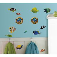 RoomMates Wall Stickers : Fish with 3D Port Hole