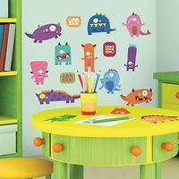 RoomMates Wall Stickers : Monsters