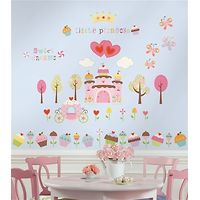 RoomMates Wall Stickers : Cupcake Land