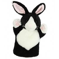 Glove Puppet - Black & White Rabbit