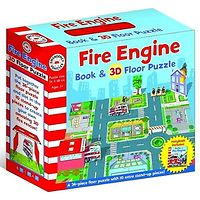 Fire Engine Book & 3D Floor Puzzle
