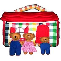 Bear House Play Bag