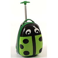 Wheelie Kids Green Ladybug Suitcase